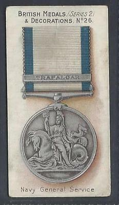 Taddy - British Medals & Decorations (Blue Back) - #26 Navy General Service