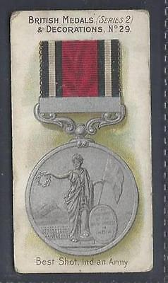 Taddy - British Medals & Decorations (Blue Back) - #29 Best Shot, Indian Army