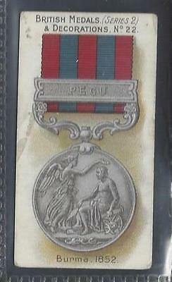 Taddy - British Medals & Decorations (Blue Back) - #22 Burma, 1852