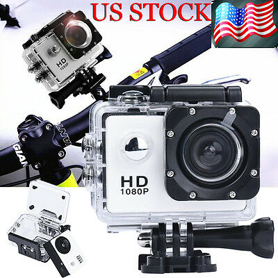 "12MP Waterproof Helmet Action DV Sports Camera Camcorder 2"" HD 1080P Recorder US"