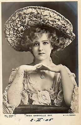 Vintage Postcard.actress Miss Gabrielle Ray Edwardian Glamour Rp