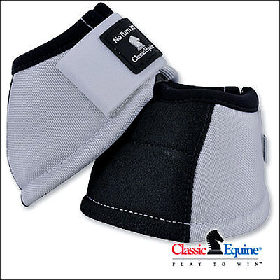 Extra Large White Classic Equine Horse Kevlar No Turn Bell Boot