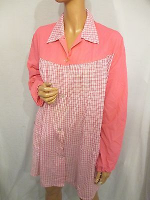 VINTAGE PINK GINGHAM CHECK OVERALL SISSY PINNY APRON FETISH CHEST:40/42in