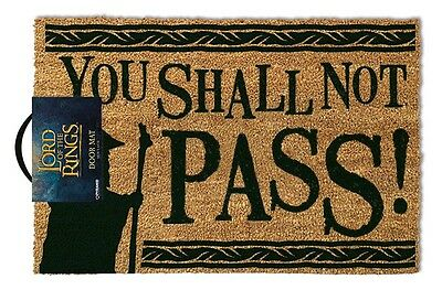The Lord Of The Rings (You Shall Not Pass) Doormat GP85071 DOOR MAT