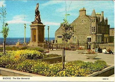 Buckie, Moray - The War Memorial - Posted Postcard