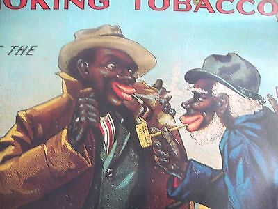 """VTG """"BLACK AMERICANA""""  Bull Durham Tobacco Poster  WITHOUT A MATCH  21"""" X 17"""""""