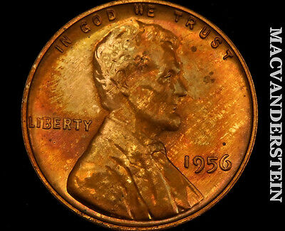 1956 Lincoln Wheat Cent- Proof !! Toned !! #p304