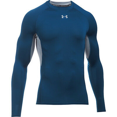 Under Armour HeatGear Compression Longsleeve Shirt navy steel 1257471-997 Sport