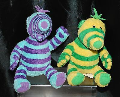 The Fimbles Set Of 2 Small 9 Inch Soft Toys Fimbo & Florrie By Fisher Price