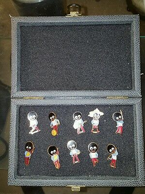 Robertsons Badge Brooch Collection x 10 in display case
