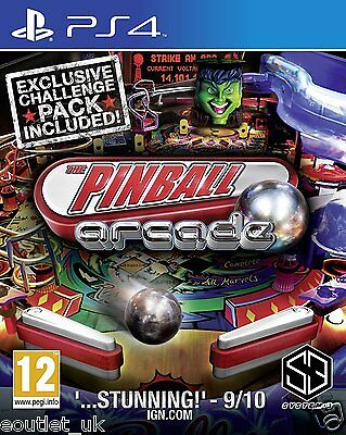 Pinball Arcade for PlayStation PS4 BRAND NEW FACTORY SEALED