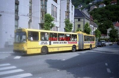 Photo  1995 Norway Trolleybus Bergen  Articulated Trolleybus On Route 2