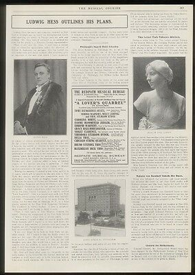 1912 Ludwig Hess photo opera interview vintage print article