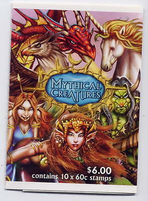 Australia 2011 Mythical Creatures $6 Booklet Sg.sb383