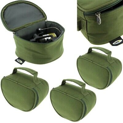 3 x New NGT Deluxe Green Reel Case Bag Carp Pike Fishing Tackle 108 fit Big Pit