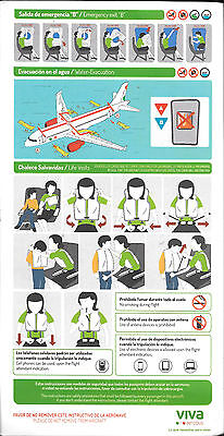 1 x VIVAAEROBUS.COM A320 SAFETY CARD *20-MARZO-2015*