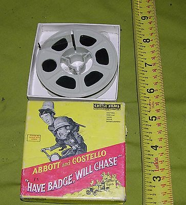 Abbott And Costello Have Badge Will Travel Castle Films 8Mm Headline Edition