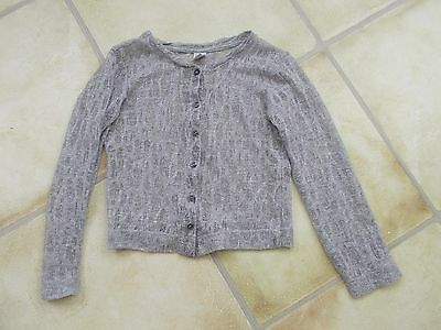 Girls Silver Grey Zara Cardigan Age 4-5