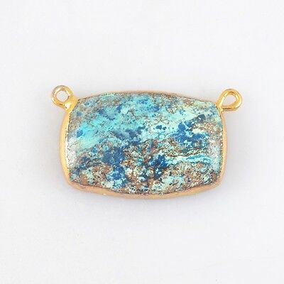 Natural Chrysocolla Connector Gold Plated H83755