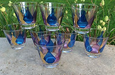 Fred Press Mid Century Glass Set Of 8