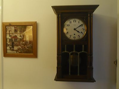 Antique Vedette westminster chime french wall clock