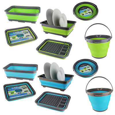 Washing Up Cleaning Bowl Collapsible Bucket Dish Foldable Folding Water Sink