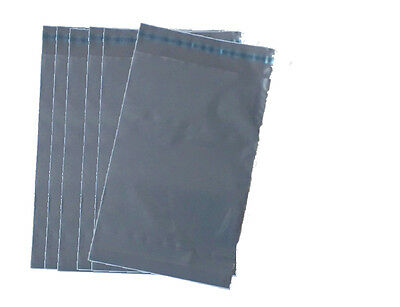 50 x Grey Polythene Postal Post Mailing Postage Bags Self Seal 4x6""