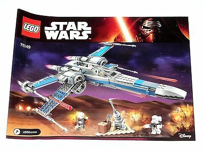 LEGO STAR WARS Resistance X-Wing Fighter ORIGINAL INSTRUCTIONS ONLY 75149