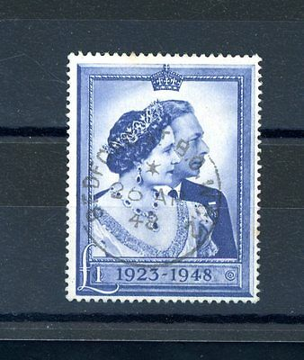 Great Britain 1948  Silver Wedding  £1 Value  very fine used    (J1344)
