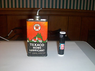 Texaco Home Lubricant,Lead Curved Top Oil Can,1930's