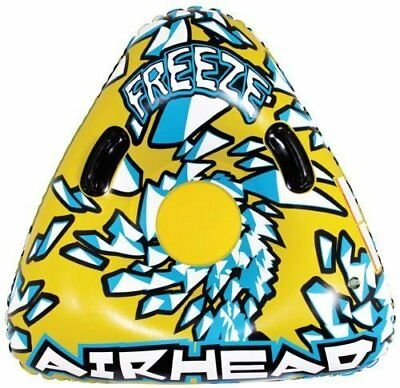 Airhead 1-Person Triangle Snow Tube Two Molded Handles PVC Construction NWT