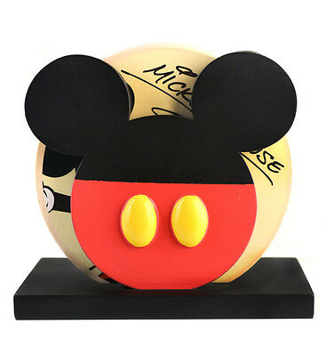 Disney Parks Mickey Mouse Donald Duck Goofy Pluto Coaster Set with Holder NEW