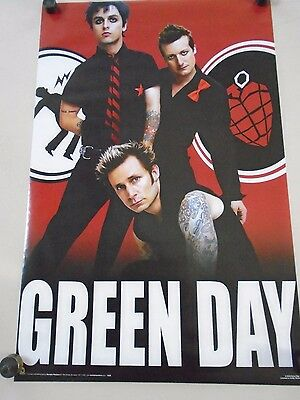 Green Day / Original Vintage Poster, Group Red - #1205 / Exc. new cond. - 22x34""