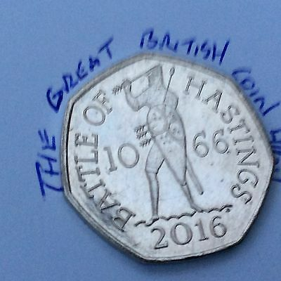 Circulated 2016 Battle Of Hastings 1066 50p Coin