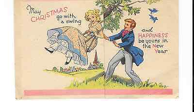 Vintage Greeting Card Christmas Good Luck New Year Raphael Tuck & Sons