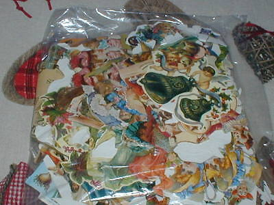 A Bag Of Die Cut Embossed Scrap Book Pictures Scraps For Decoupage Cards