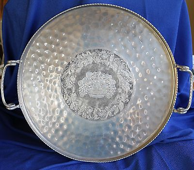 Vintage Cromwell Hand Wrought Aluminum Serving Tray