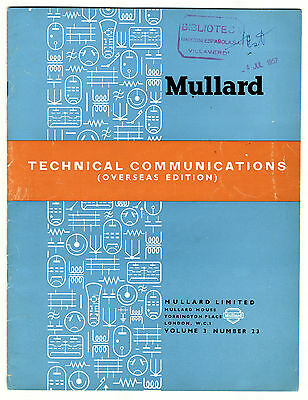 Mullard - Technical Comunications - Volume 3 - Number 23 - May 1955