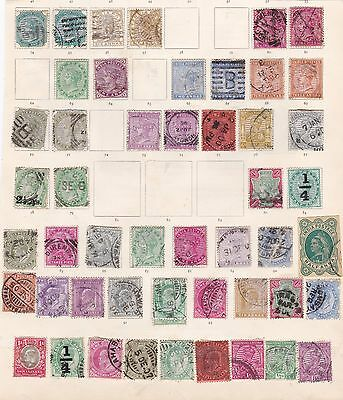 India - mostly Q. Victoria/Edward VII early period USED stamps