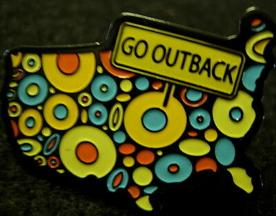 J4411 Outback Steakhouse Go Outback hat lapel pin