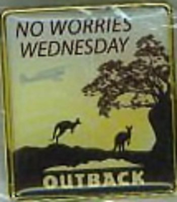 J4014R Outback Steakhouse No Worries Wednesday hat lapel pin