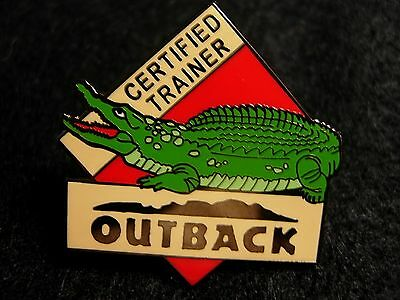 J4009Ra Outback Steakhouse Certified Trainer hat lapel pin