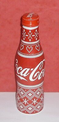 "1 Coca Cola Bouteille Coke Bottle  Alu "" Noel Christmas  ""  France Full  Pleine"