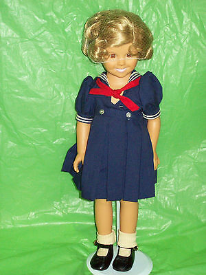 Older Shirley Temple Doll w/Stand