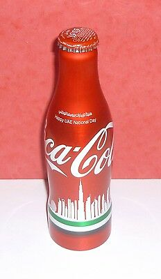 "1 Bouteille / Bottle Coca Cola  Alu "" National Day "" Uae "" Dubai "" Full Pleine"