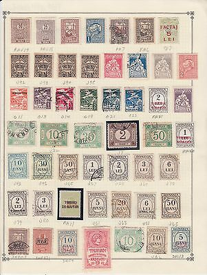 ROMANIA ALBUM PAGE COLLECTION LOT $$$$$$$ IDENTIFIED 99c NO RESERVE