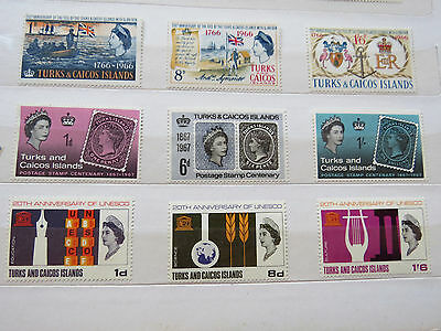 Turks & Caicos, Three Sets Of Umounted Mint Stamps