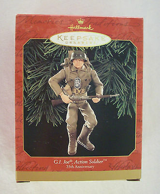GI Joe Action Soldier Christmas Holiday Hallmark Keepsake Ornament 1999 MIB