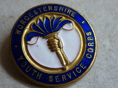 World War Two? Home Front Badge Worcestershire Youth Service Corps