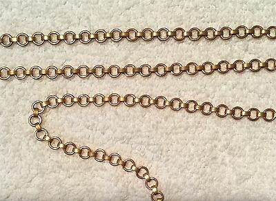 Vintage Incredible Connector & Link Brass Jewelry Chain 6 Ft